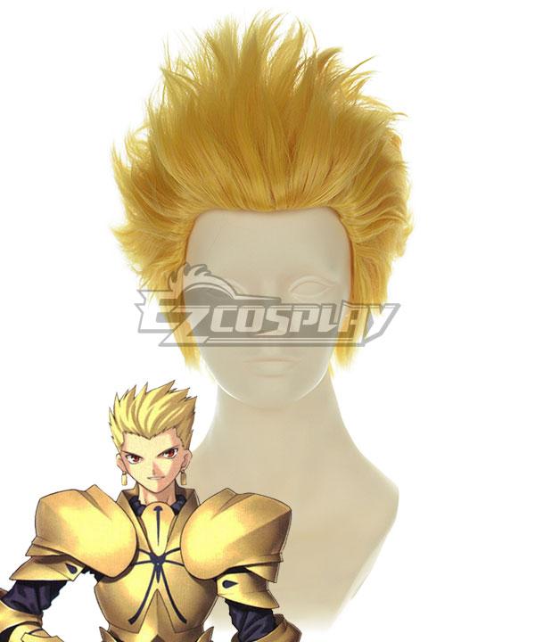 Fate Grand Order Fate Stay Night Fate Zero Archer Gilgamesh Golden Cosplay Wig 235B