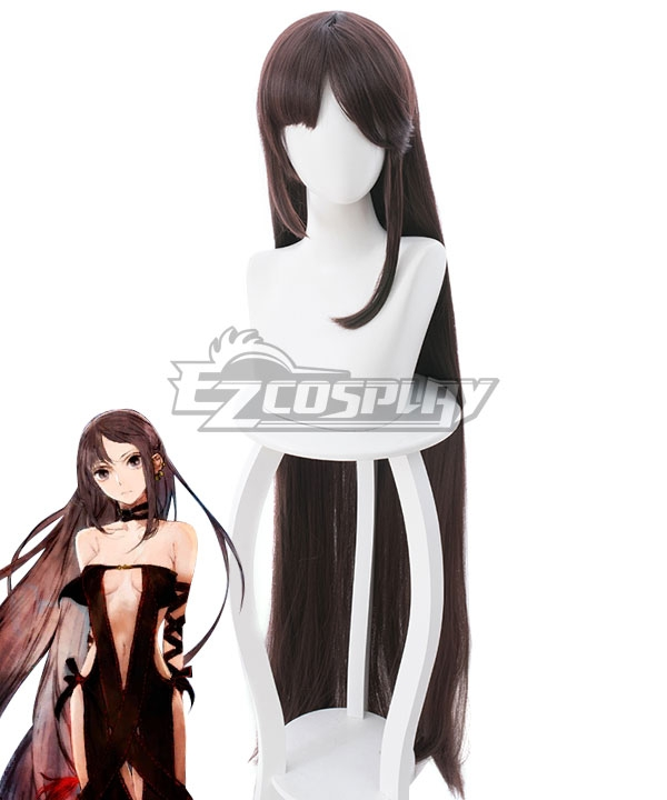 Fate Grand Order FGO Yu Miaoyi Dark Brown Cosplay Wig - 235CC