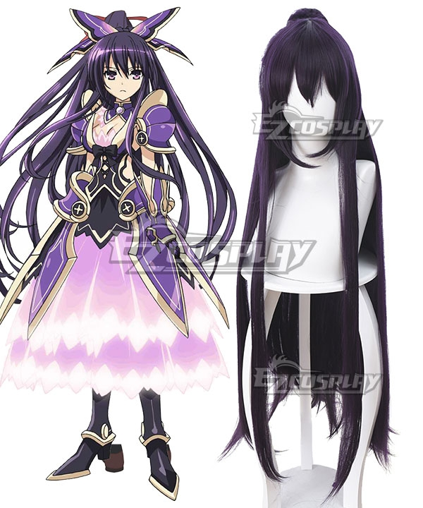 Date A Live Tohka Yatogami Princess Dark Purple Cosplay Wig - 394D