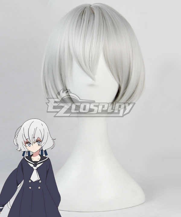 Zombieland Saga Konno Junko Silver White Cosplay Wig